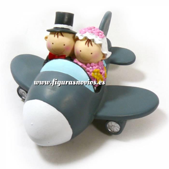 Imagen Novios Tarta Divertidos Muñeco Boda Avión Hucha