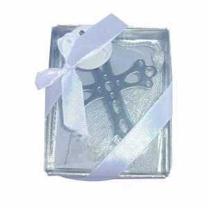 Detalles de Comuni�n - Marcap�ginas Comuni�n - Cruz Troquelada con Borla en caja Transparente