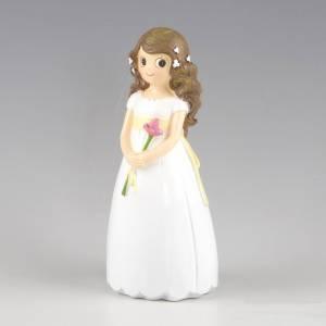 Figuras de Comuni�n - Figura Tarta Comuni�n Ni�a con flor