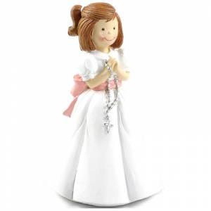 Figuras de Comuni�n - Figura Tarta Comuni�n Ni�a con rosario en la mano