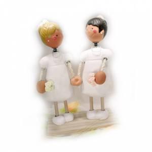 Novios Tarta Modernos - Figura Pastel Novias Chicas (Bubinots) (Últimas Unidades)
